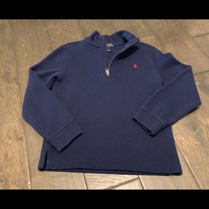 Boys size 7 Polo 1/4 sweater
